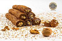 Рахат Лукум ванильный с грецким орехом в кунжутной обсыбке.