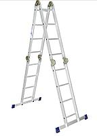 Лестница-трансформер алюминиевая шарнирная 4х4 ступени
