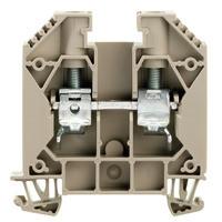 WDU 16 Проходная клемма, Винтовое соединение, 16 mm², 1000 V, 76 A, Темно-бежевый Weidmuller