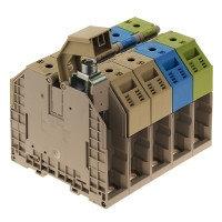 WDU 120/150 Проходная клемма, Винтовое соединение, 120 mm², 1000 V, 269 A, Темно-бежевый Weidmuller