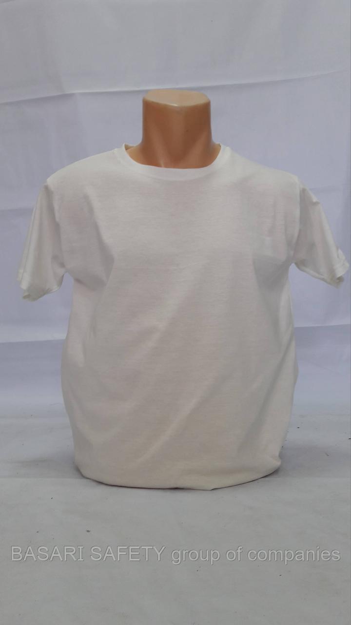 Трикотажный футболка белый