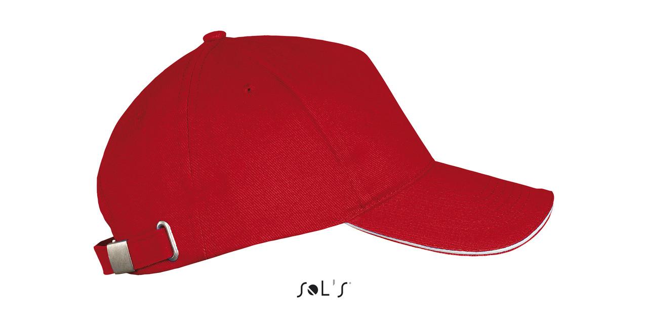 Бейсболка   Sols Long Beach Красная