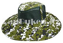 Шляпа с москитной сеткой для рыбалки, охоты зеленая