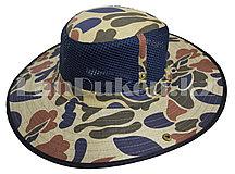 Шляпа с москитной сеткой для рыбалки, охоты сине-зеленая
