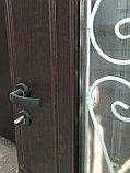 Дверь металлическая двустворчатая с окном, фото 2