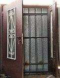 Дверь металлическая двустворчатая с окном, фото 3
