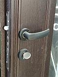 Дверь металлическая двустворчатая с окном, фото 4