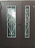 Дверь металлическая двустворчатая с окном, фото 5
