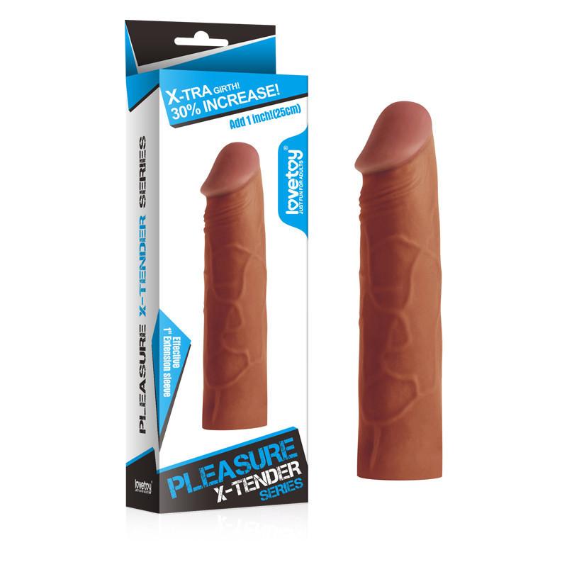Насадка на пенис Pleasure X-TENDER (17*3,9)