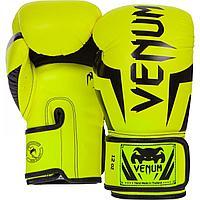 Боксерские перчатки Venum ELITE салатовые 8, 10, 12 OZ (Thailand)