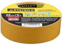 Лента клейкая, двусторонняя, на полипропиленовой основе Stayer Master 1221-38-10 (38мм х 10м)