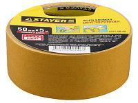 Лента клейкая, двусторонняя, на полипропиленовой основе Stayer Master 1221-50-05 (50мм х 5м)