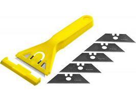 Набор скребок пластмассовый Stayer Standard 0851-H6_z01 (5 лезвий, 50мм)