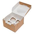 Эко-упаковка, для маффинов 4 штуки 160*160*100 DoEco (25/150), фото 3