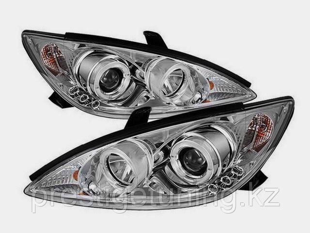 Передние фары Camry 30/35 с ангельскими глазками Chrome color