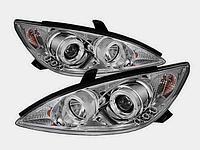 Передние фары Camry 30/35 с ангельскими глазками Chrome color, фото 1
