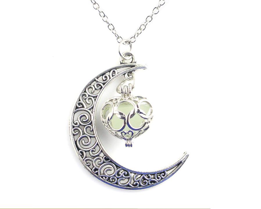 Silver Moon светящиеся ожерелье