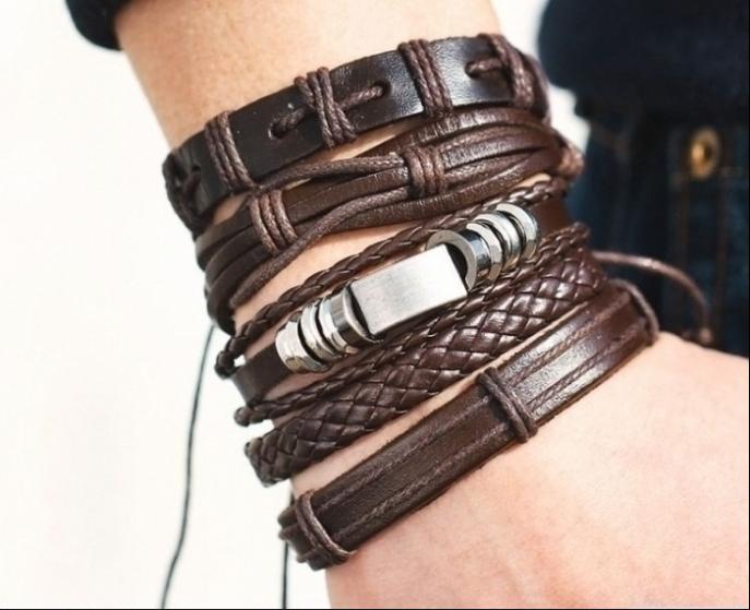 Кожанный браслеты для мужчин