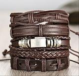 Кожанный браслеты для мужчин, фото 5
