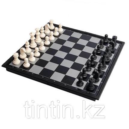 Настольная игра 3 в 1: нарды, шахматы и шашки, 32х32х2см, фото 2