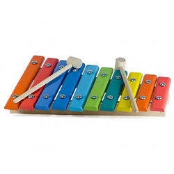 Деревянная Игрушка Ксилофон, окрашенный, 10 нот