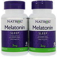 Мелатонин с витамином В6, 3 мг, 60 таблеток.1 банка.  Natrol