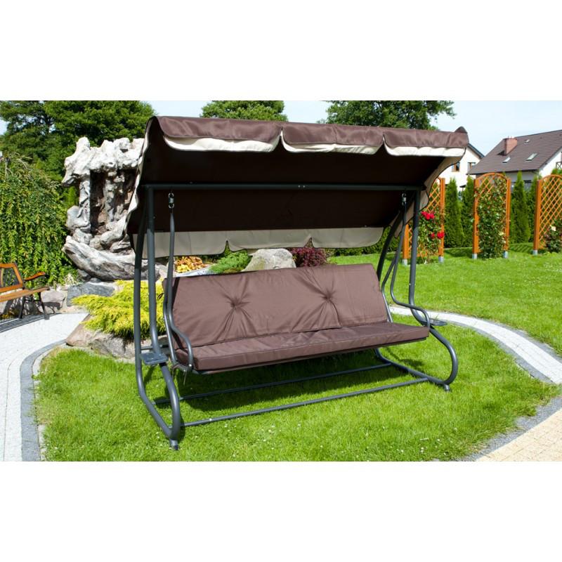 Садовая качель , трехместные, цвет - коричневый TX48745