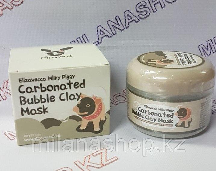 Elizavecca Milky Piggy Carbonated Bubble Clay Masc - Маска для лица Глиняно-Пузырьковая