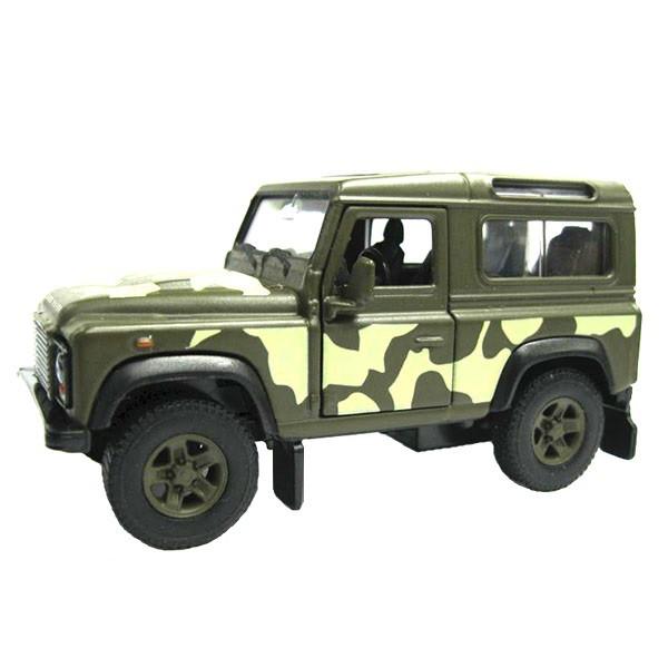 1/34 Welly Модель военной машины Land Rover Defender