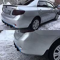 Диффузор на задний бампер Toyota Corolla 2006-2010