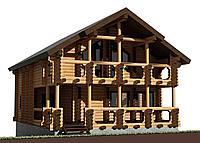 Проекты деревянных домов из оцилиндрованного дерева