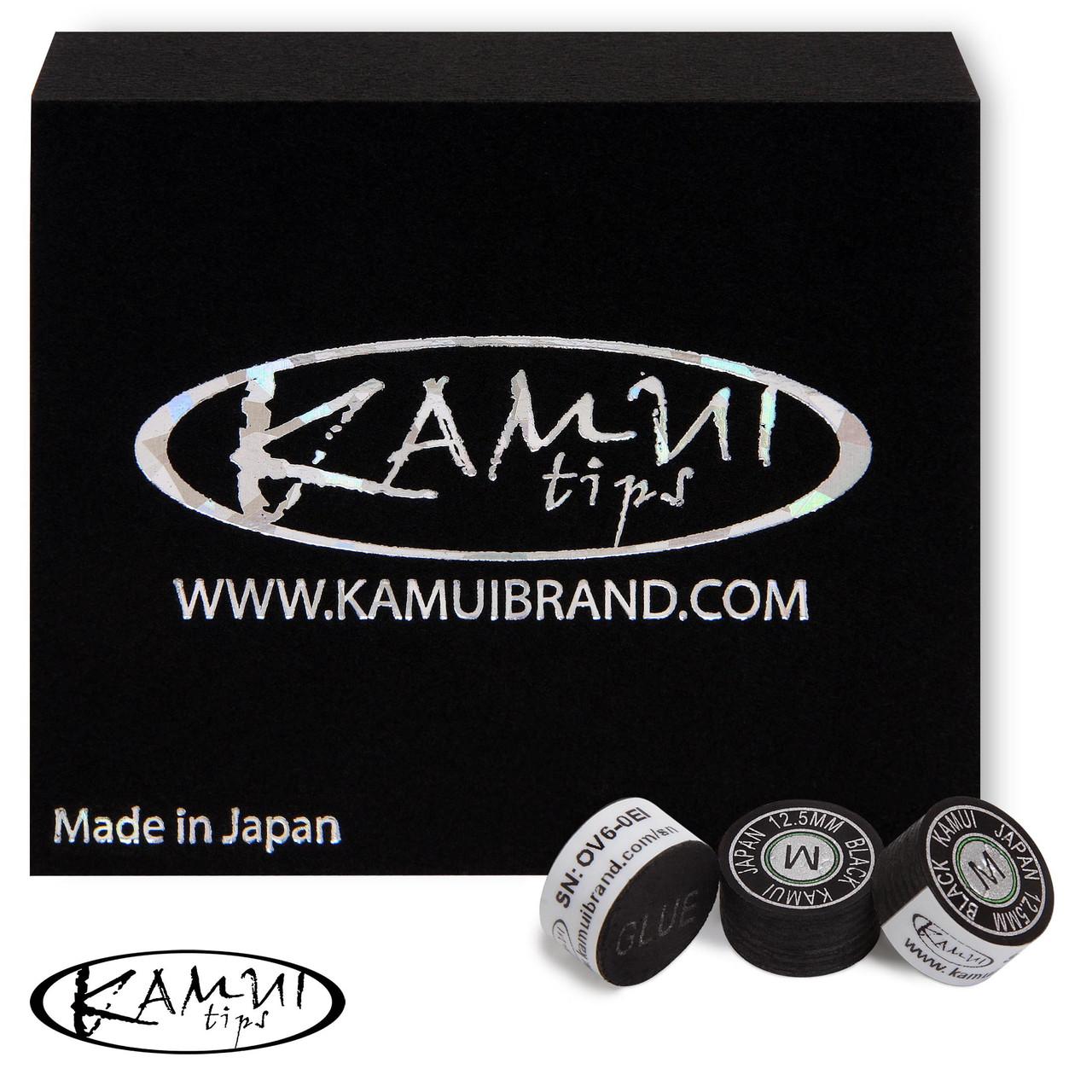 Наклейка для кия Kamui Black Ø12.5 мм Medium