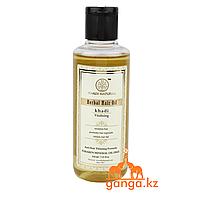 """Масло для волос """"Оживляющее"""" - без парабенов и минерального масла (Herbal Hair Oil Vitalising KHADI), 210 мл."""