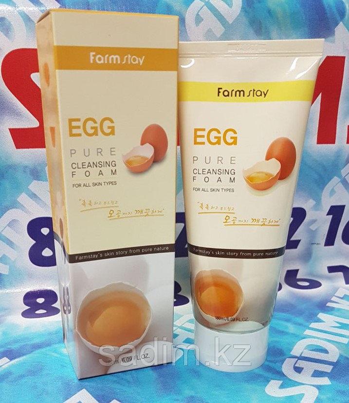 Farm Stay Egg Pure Cleasing Foam (Пенка для умывания с яичным экстрактом)