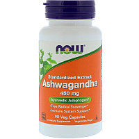 Now Foods, Ашвагандха, 450 мг, 90 капсул., фото 1