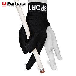 Перчатка бильярдная Fortuna Sport черная M\L