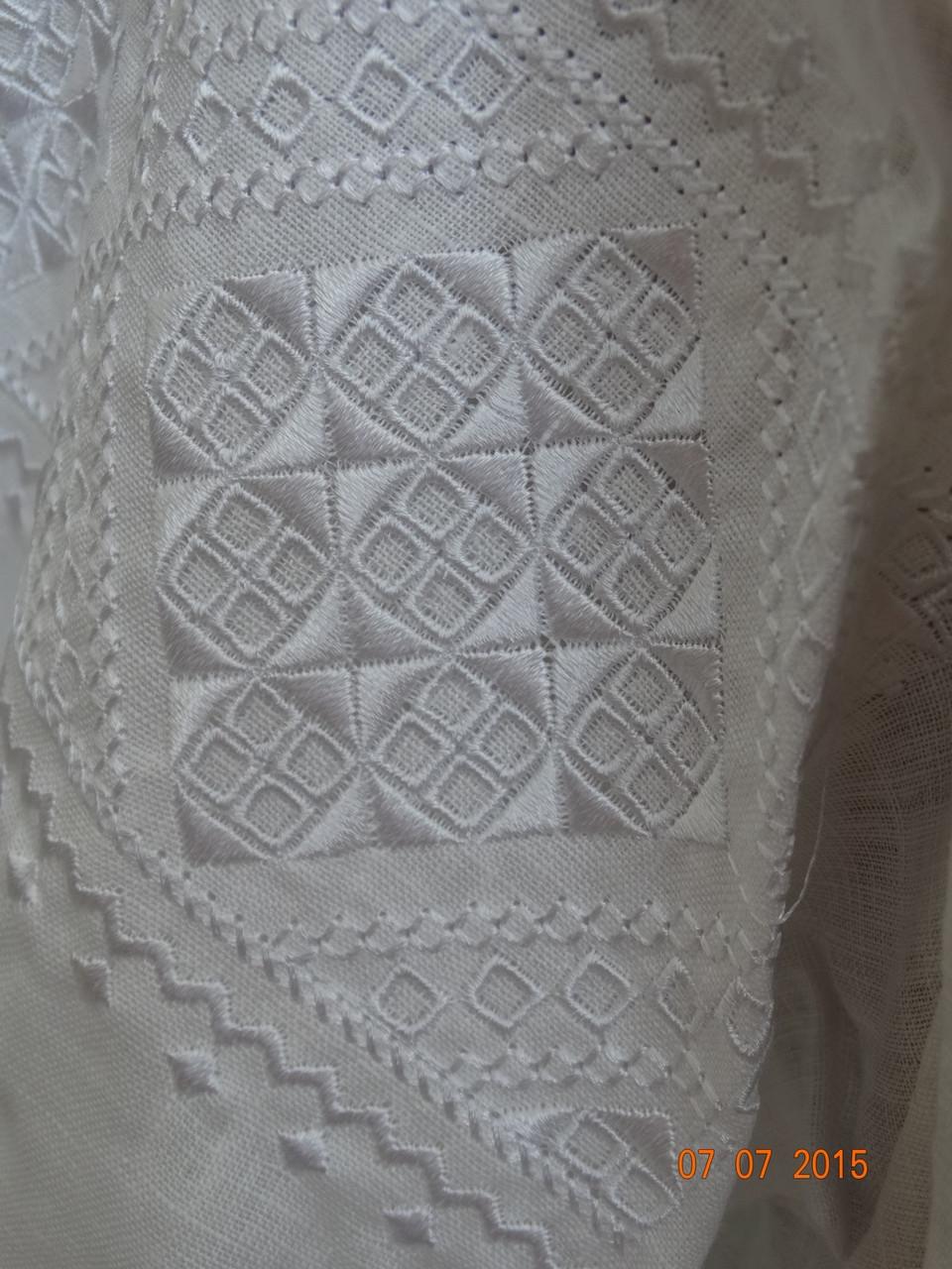 """Женская вышиванка """"Окошко"""" белым по белому - фото 6"""