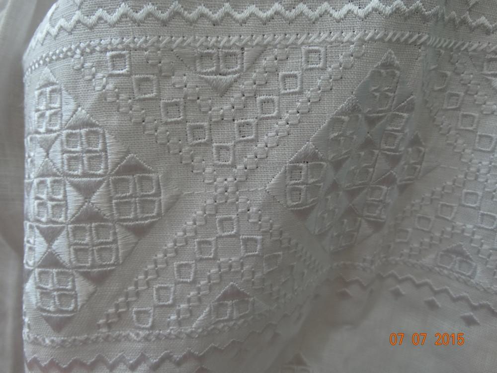 """Женская вышиванка """"Окошко"""" белым по белому - фото 7"""
