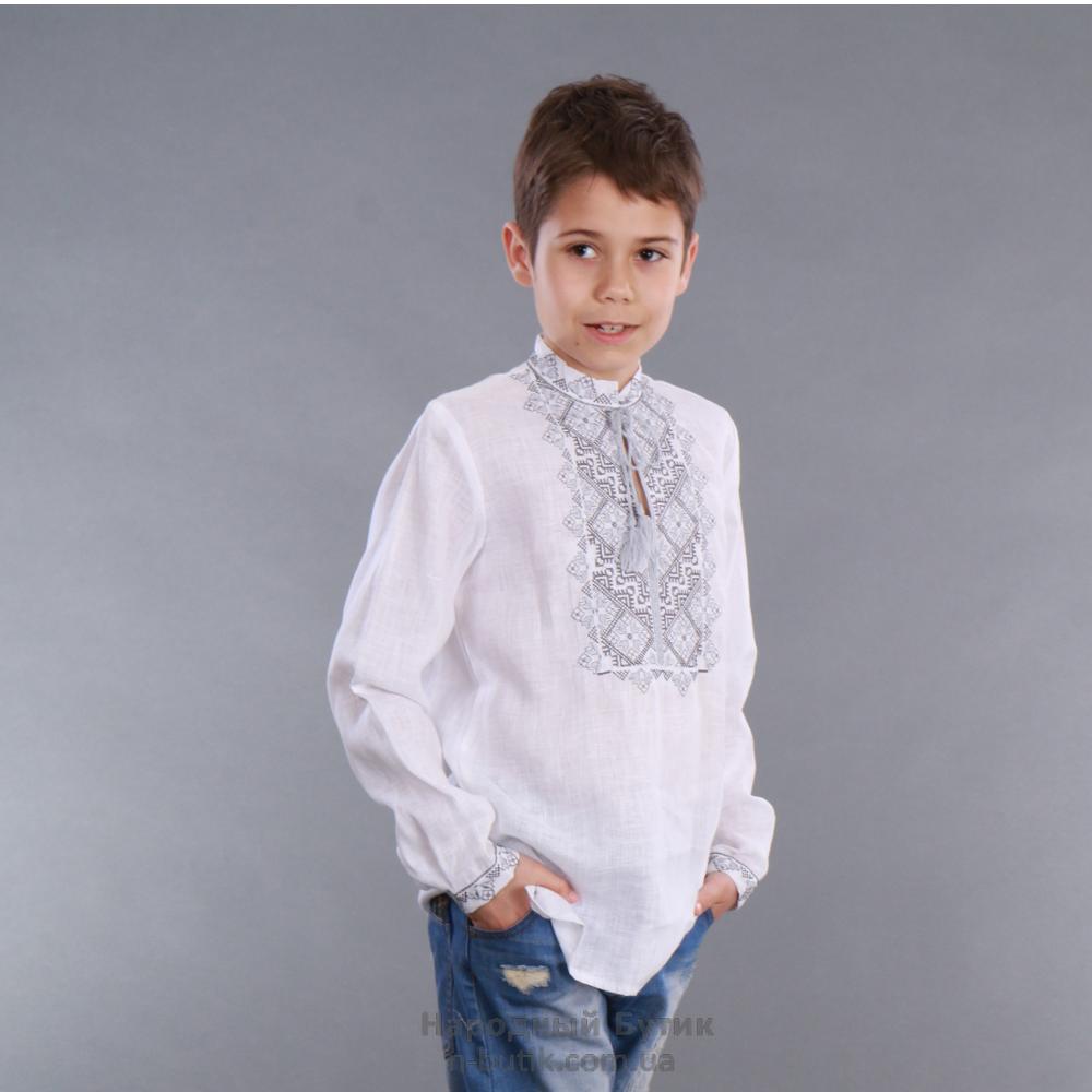 """Вышиванка детская для мальчика """"Твори мир"""" - фото 1"""