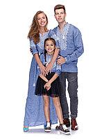 Вышиванки для всей семьи в одном стиле (лен джинс)