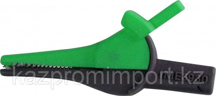 Зажим изолированный типа «крокодил» цвет зеленый