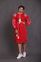 Красное платье - вышиванка для женщин 48