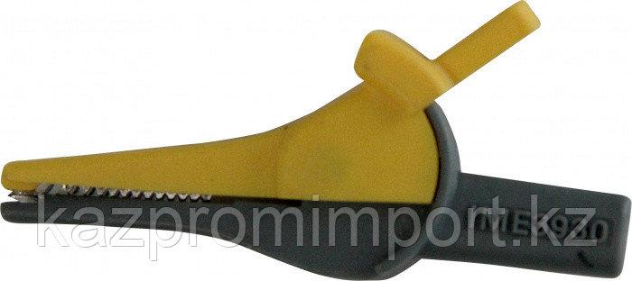 Зажим изолированный типа «крокодил» цвет желтый