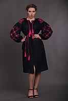 Льняное женское платье с вышивкой