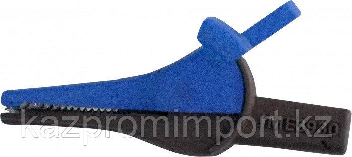 Зажим изолированный типа «крокодил» цвет синий