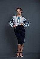 Льняная женская вышиванка, длинный рукав 50