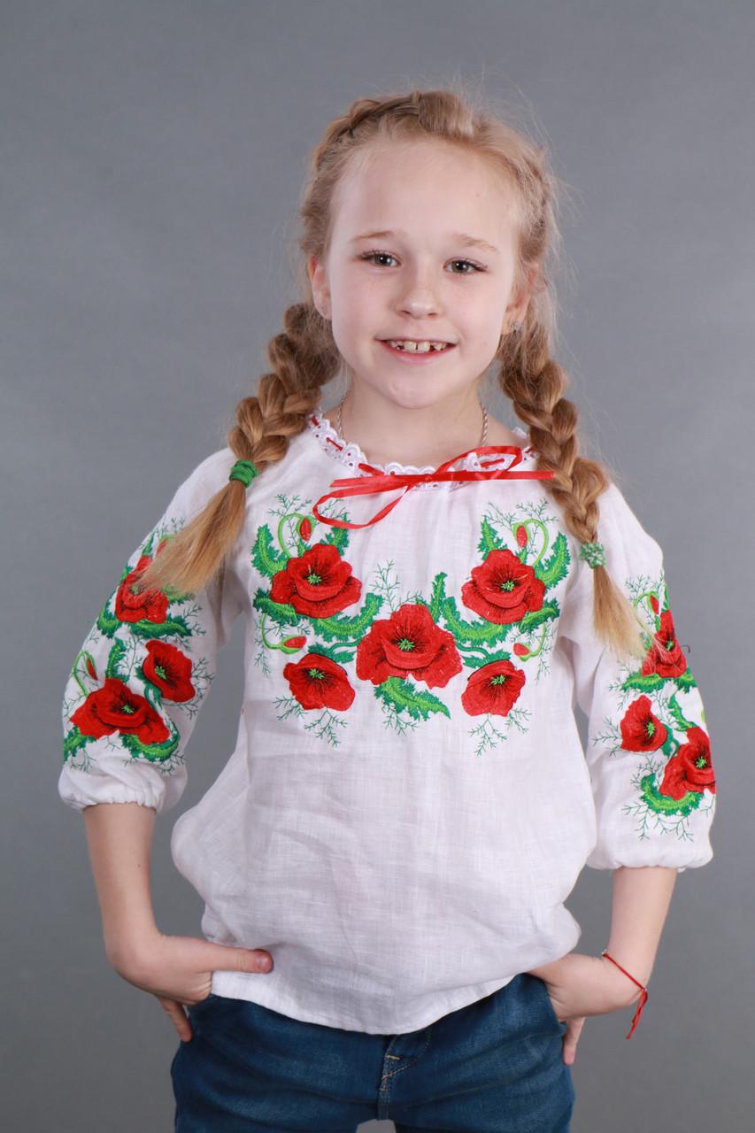 """Вышиванка для девочки """"Мак и Укроп"""" - фото 1"""