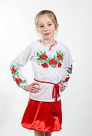 Вышиванка для девочки с рубашечной ткани