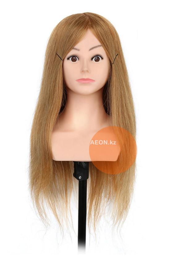 Голова-манекен с торсом русый волос натуральный - 60 см