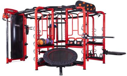 Многофункциональный тренажер с кроссовером WNQ Fitness F1-A8000
